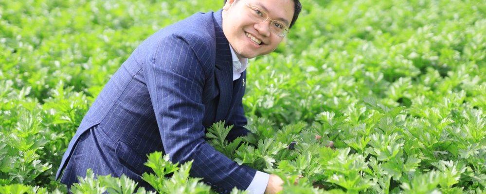 CEO Đào Hoàng Cường và khát vọng hỗ trợ người nông dân trồng cần tây